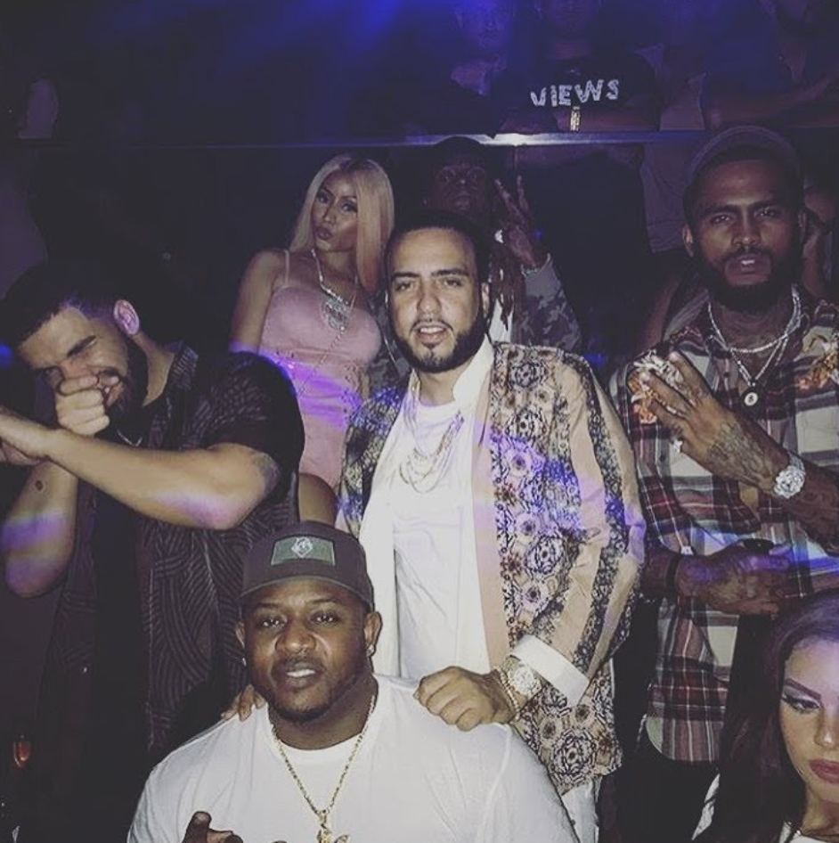 Drake and Dave East at the club