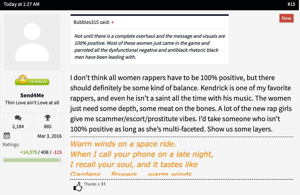 Lipstick Alley Female Rap Discussion