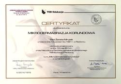 laserowe-love-raciborz-zaneta-mruzek-certyfikaty-mikrodermabrazja