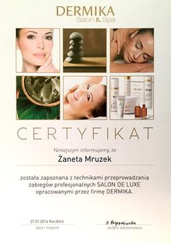laserowe-love-raciborz-zaneta-mruzek-certyfikaty-dermika