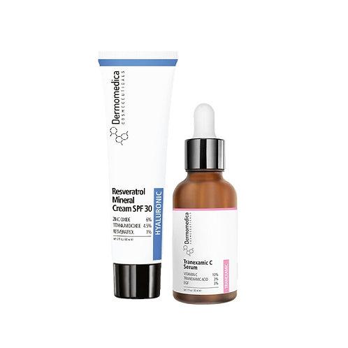 Zestaw Tranexamic C Serum + Resveratrol Mineral Cream SPF30