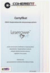 certyfikat jakości i bezpieczeństwa dla instytutu laserowe love w Raciborzu