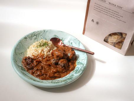 ゴロッとマッシュルームがまるごと!お休みの日にじっくりコトコト一日煮込む!旨味を味わう欧風カレーで美味しい時間。