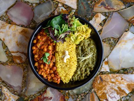 SEASONAL FOOD BY LAPAZ [SAG CURRY& CHANA MASALA COMBI PLATE]  26th MARCH DEBUT!!!