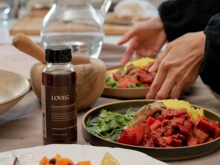 料理の味付けこれ一本!植物性100% 無添加万能調味料!LOVEGのシーズニングソースで「胡桃蕎麦」を作りました!