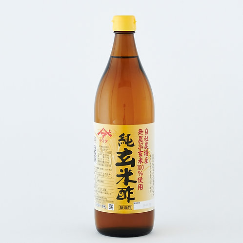 BROWN RICE VINEGAR 【松合食品 九州産玄米使用 純玄米酢 900ml】