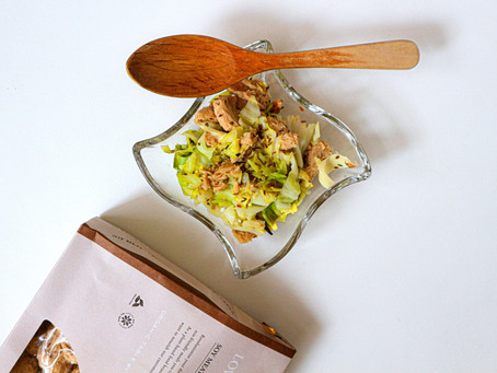 "LOVEG SPICE RECIPE vol.04 ""簡単本格スパイス副菜!キャベツのアチャール""の作り方 (カレーのお供やお弁当におすすめです!)"