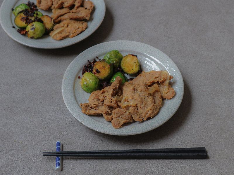 STIR FRY SOY MEAT WITH GINGER & MISO