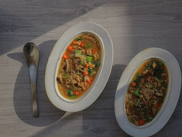 SOY MEAT & VEGETABLES SOUP