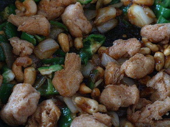 STIR FRIED SOY MEAT and CASHEW