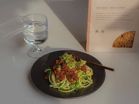 新食感がたまらない!大人気「ズードル」でグルテンフリー!ヘルシー&ハイプロテインで体が嬉しい担々麺のレシピ!