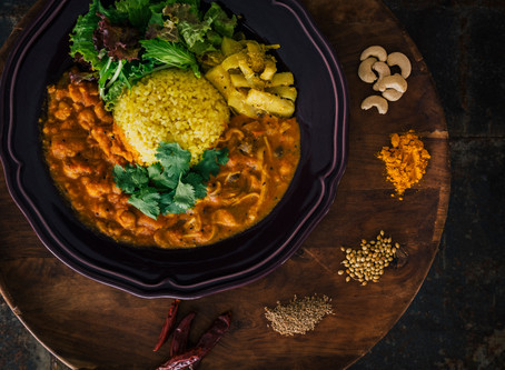 SEASONAL FOOD DEBUT!! 「Chana masala &Japanese Mushroom Ajowan Curry Combi Plate」