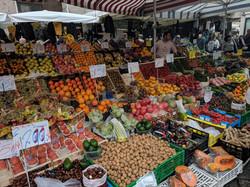 Farmer's market in Piacenza, Italy
