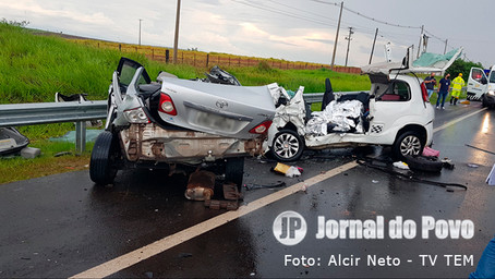 Morre garota de 8 anos, terceira vítima fatal de grave acidente na SP-333, em Marília