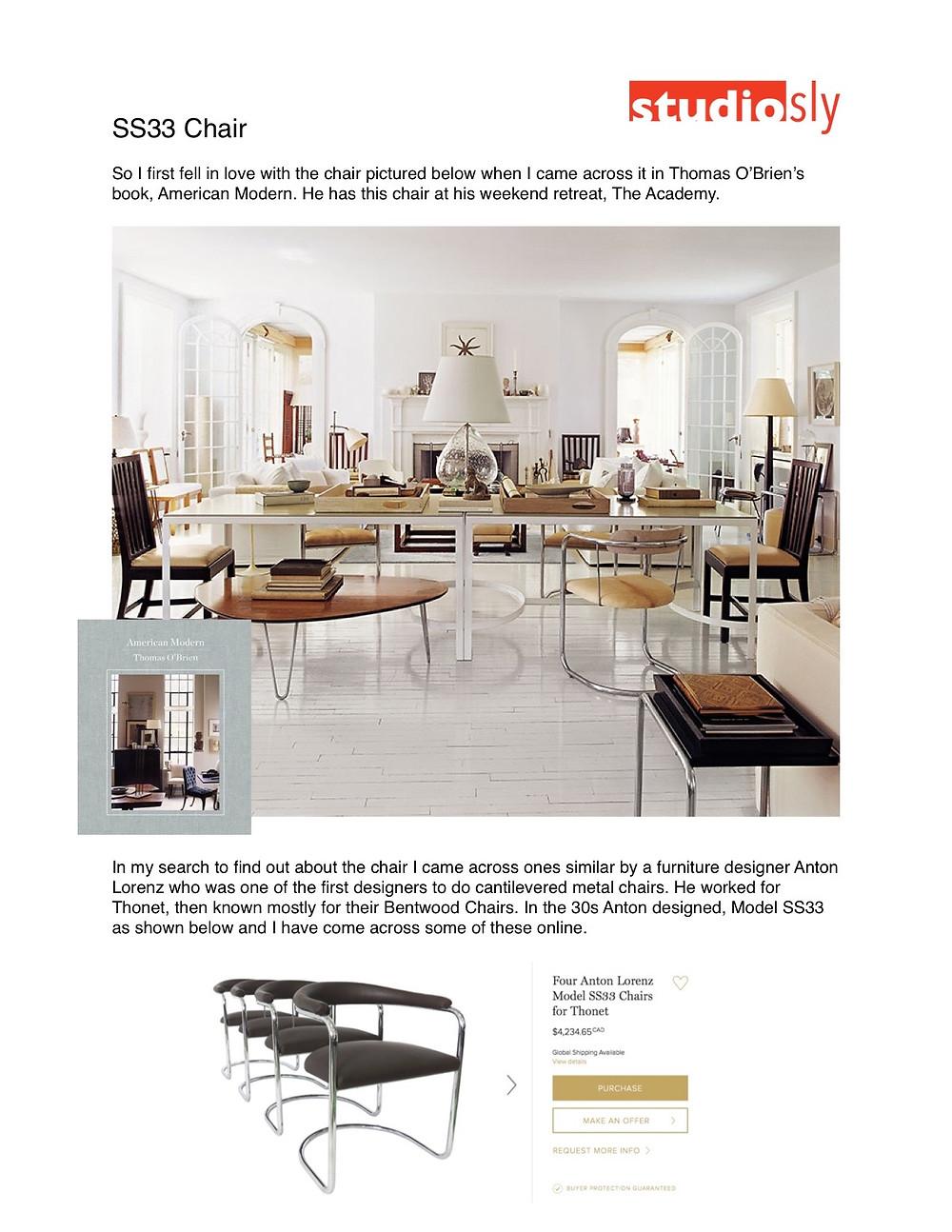 Anton Lorenz Chairs