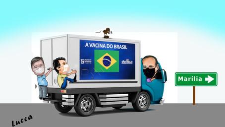 Na onda da vacina. Daniel Alonso e Vinícius colam em Doria. Governador estará em Marília, amanhã