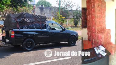 PM flagra carga de cigarros contrabandeados no Bairro Palmital, em Marília