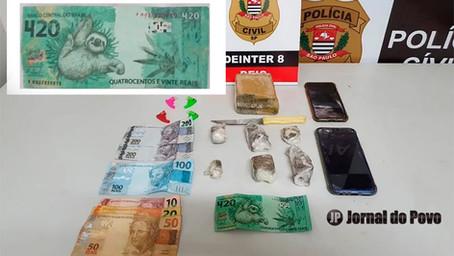Polícia prende quadrilha na região com drogas e nota de R$ 420