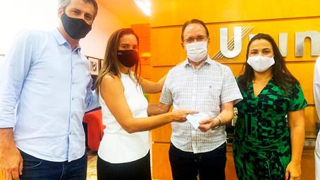 Projeto Amor de Criança, realizado na Unimar,  recebe doação da empresa alimentícia Nutrissima