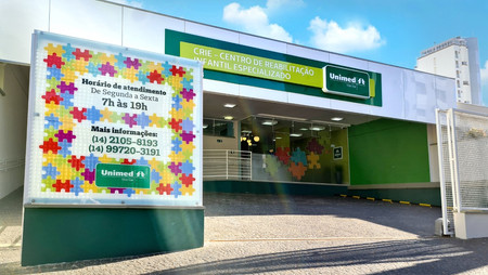 Novo Centro de Reabilitação Infantil Especializado da Unimed atende de segunda à sexta-feira