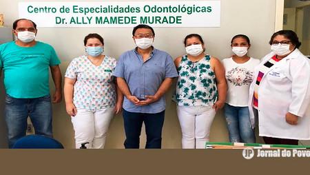 Vereador dr. Elio Ajeka visita o CEO e faz doações de equipamentos de proteção contra o coronavírus