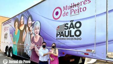 Carreta da Mamografia já está em Marília e vai iniciar exames gratuitos nesta terça-feira