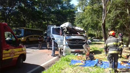 Caminhão bate em árvore e mata motorista na BR-153, em Ocauçu