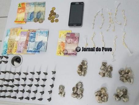 PM flagra mais dois tentando esconder drogas em mata, na Zona Norte de Marília