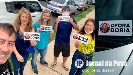 Marília realizou neste domingo grande carreata e adesivaço contra o governador João Doria