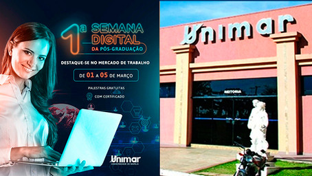Pós-Graduação Unimar realiza série de palestras on-line gratuitas para diferentes áreas de atuação