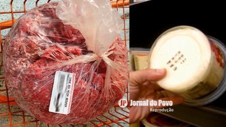 Após denúncia, Vigilância Sanitária retira produtos vencidos em supermercado, em Marília