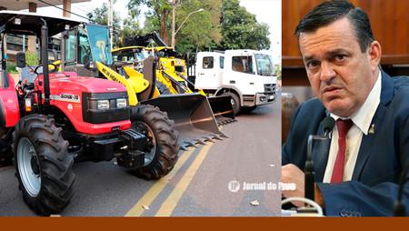 Vereador Galete tem reivindicação atendida  para compra de novas máquinas, veículos e equipamentos