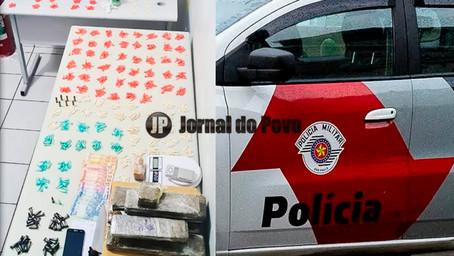 PM flagra casa recheada de drogas e prende três por tráfico na Zona Sul de Marília