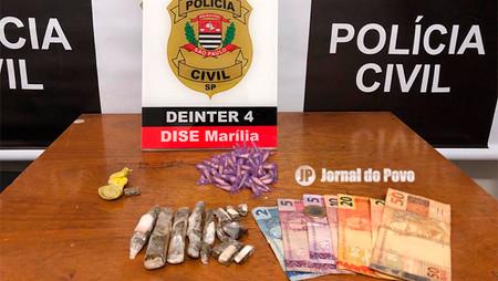 DISE flagra rapaz traficando drogas e com  dinheiro na cueca, na Zona Sul de Marília