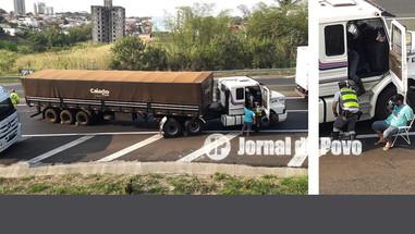 Carreteiro é flagrado na Rodovia do Contorno transportando cocaína, após acidente