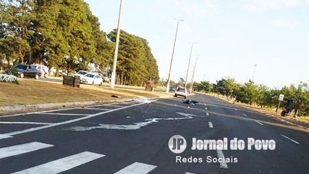 Vítima fatal em acidente com motocicleta na Zona Norte de Marília