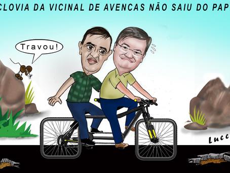PEDALADA! Mesmo com obras sendo anunciadas, projeto da ciclovia na Vicinal de Avencas não saiu do pa