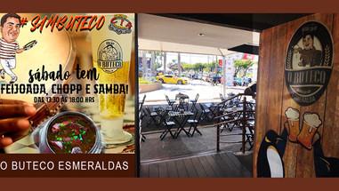 VEM PRA CÁ! Sábado tem a tradicional feijoada, chopp e samba do bom ao vivo no O Buteco Esmeraldas