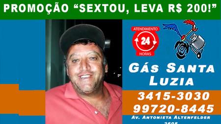 Júnior Jodas também ganhou R$ 200 do Gás Santa Luzia. Hoje tem mais sorteio para clientes!