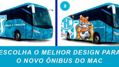 MAC faz enquete para escolha de design do novo ônibus do Clube