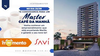 Master Imóveis promove café da manhã com oportunidades exclusivas para o sofisticado Edifício Savi