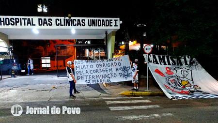 COVID: Torcida Camisa 12 Corinthians faz ação de apoio e solidariedade a profissionais em hospitais