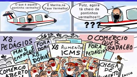 Aumentos do ICMS, pedágios e Fase Vermelha colocam Doria na mira de protestos em Marília