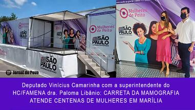 SAÚDE: Conquistada por Vinícius, Carreta da Mamografia atende centenas de mulheres em Marília