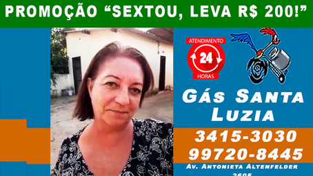 Dona Maria também ganhou R$ 200 na promoção do Gás Santa Luzia. Nesta sexta-feira tem mais R$ 200!!!