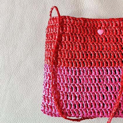 Pink Heart Crossbody Bag