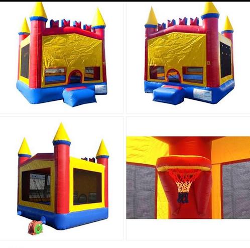13x13 Bounce Castle w/Bball Goal