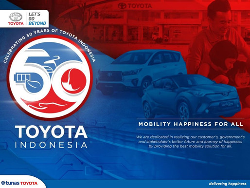 Mobility Happiness for All untuk 50 Tahun Toyota Indonesia