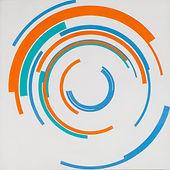 150 Paintings of June Harwood | Abstract Hard-Edge Artist | Loop Series | Untitled | 1965 | 2