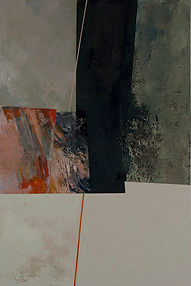150 Paintings of June Harwood | Abstract Hard-Edge Artist | Untitled | Brocade | March 2006